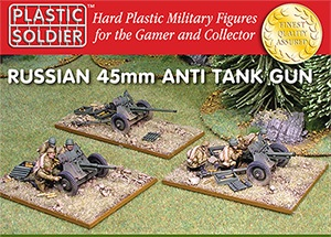 Reinforcements: 1/72nd Russian 45mm anti tank gun