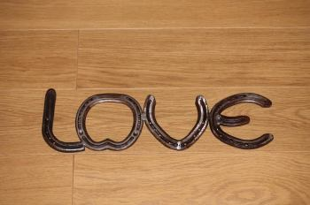 Horseshoe Love sign