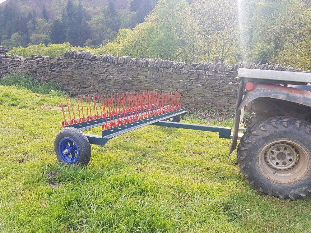 AGRI-FABS ATV, QUAD, 4X4 SPRING TINE HARROW