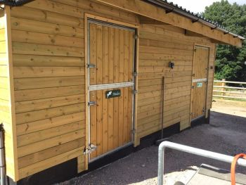 AGRI-FABS Premium Top and Bottom Stable Door with Galvanised Steel Surround and Galvanised Outer Frame