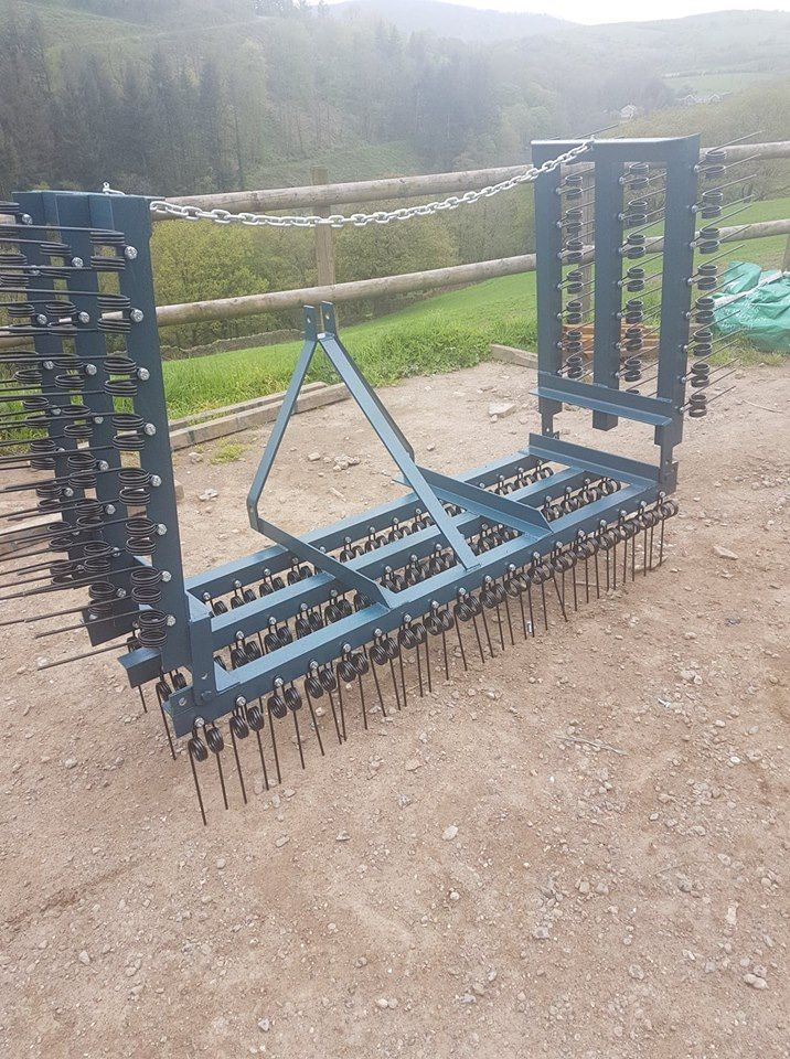 spring tine harrow 3 bar with wings - Copy