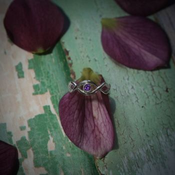 Rope Ring with Amethyst