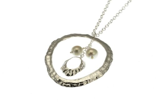 Limpet Shell Pendant - White