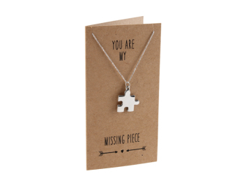 You Are My Missing Piece Sent & Meant Necklace Card & Envelope