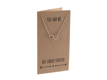 You And Me Are... Sent & Meant Necklace Card & Envelope