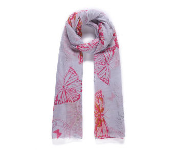 Pink Vintage Style Butterfly scarf