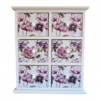 Floral Bloom 4 Drawer Unit