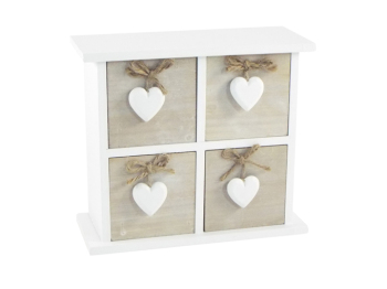 Limed Wood & White Chest