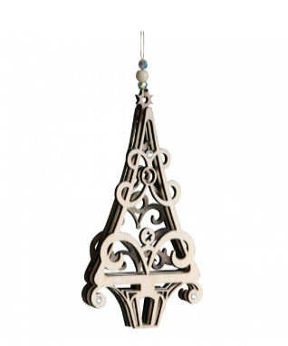 Pretty Hanging Christmas Tree Ornament