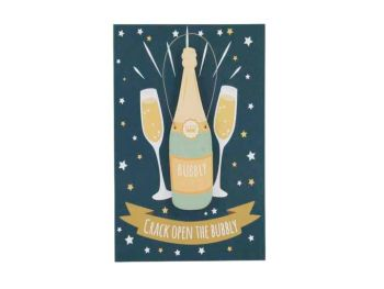Crack Open The Bubbly Congratulations Card