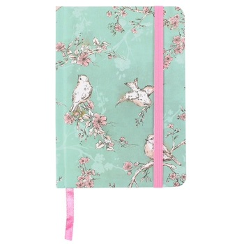 Birds & Flowers Rustic Romance Notebook