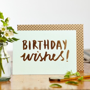 Luxe Foil Birthday Wishes Card