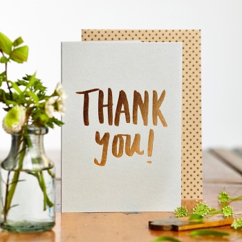 Luxe Foil Thank You Card