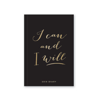 Alice Scott I Can And I Will A5 Diary 2018