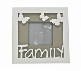 Family Frame With Butterfly Detail