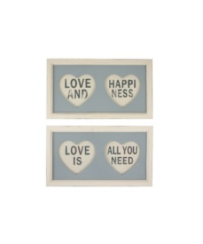 Pair of Framed Heart Signs
