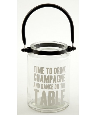 Time to Drink Champagne Glass Lantern