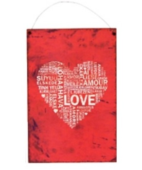 Love Metal Hanging Plaque