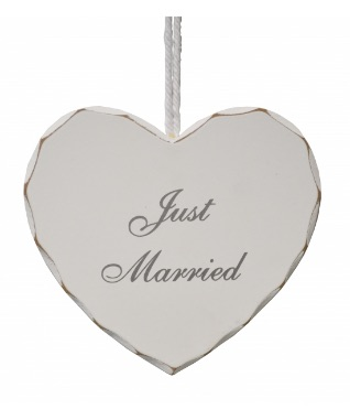 Wedding Just Married Heart Sign