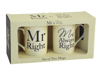 Mr & Mrs Always Right Mug Set