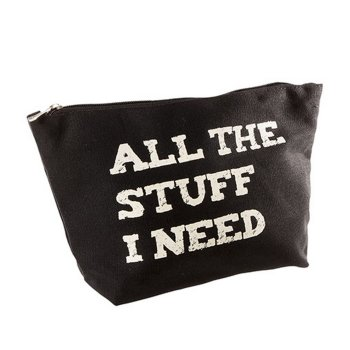 All The Stuff I Need Black Wash Bag