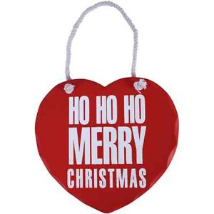 Ho Ho Ho Merry Christmas Heart Sign