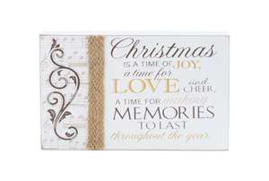 Christmas Is A Time Of Joy Mantel Plaque