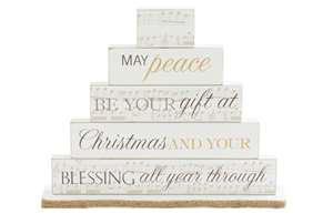 May Peace Be Your Gift Mantel Block