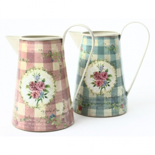 Shabby Chic Floral Jugs