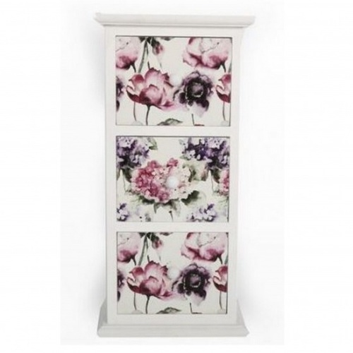 Floral Bloom 3 Drawer Unit