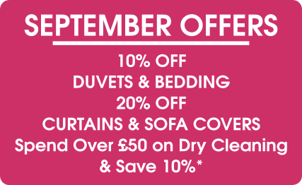September Offers- Pearls Drycleaners, Acton