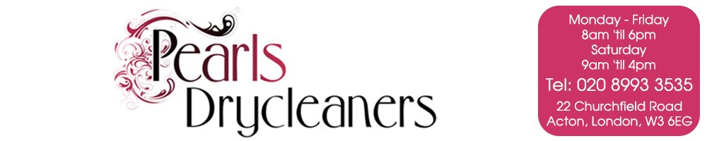 Pearls Drycleaners, site logo.