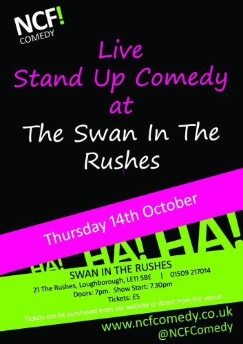 Swan in the rushes poster 14th Oct