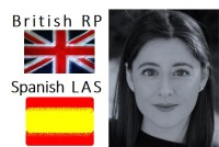 British RP female and Spanish Latin American voice over - versatility and s