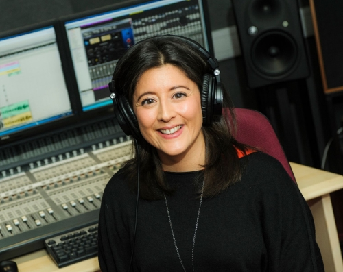 Lorraine Ansell-in a recording studio