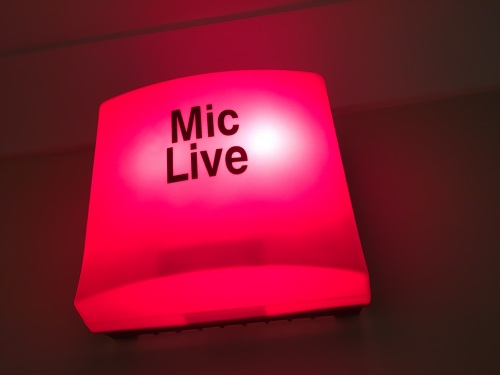 Voiceover Microphone Live