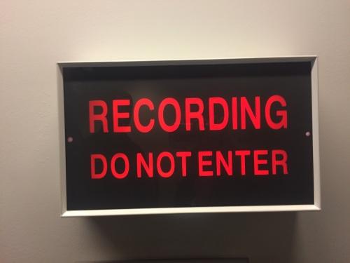 Voice recording in progress