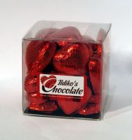 Red Foil Wrapped Milk Chocolate Hearts