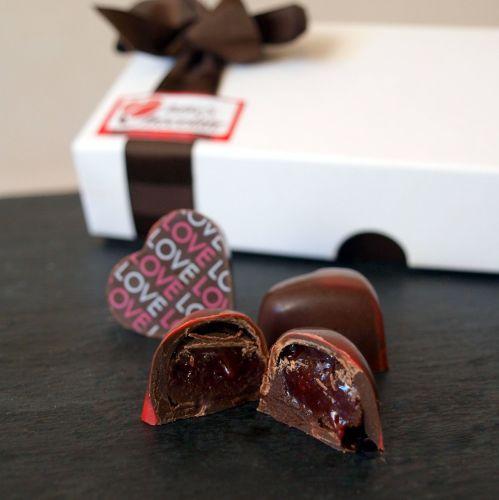 <!--001-->Raspberry Hearts Chocolates