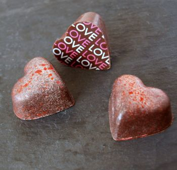Coconut cream caramel & chocolate Hearts