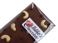 <!--002-->Finest Belgian Milk Chocolate Slab with organic cashew nuts and dark chocolate-biscuit pearls