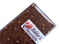 <!--006-->Finest Belgian Milk Chocolate Slab with caramel crunch and caramel chocolate-biscuit pearls