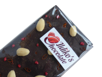 <!--010-->Extra Dark Chocolate Slab (Cocoa solids 80.1%) with Chilli, Pink Peppercorn, Blanched Almonds