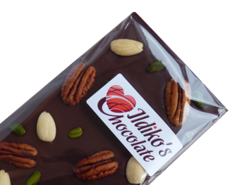 Dark Chocolate Slab (60% cocoa solids) with pistachios, pecans, almonds
