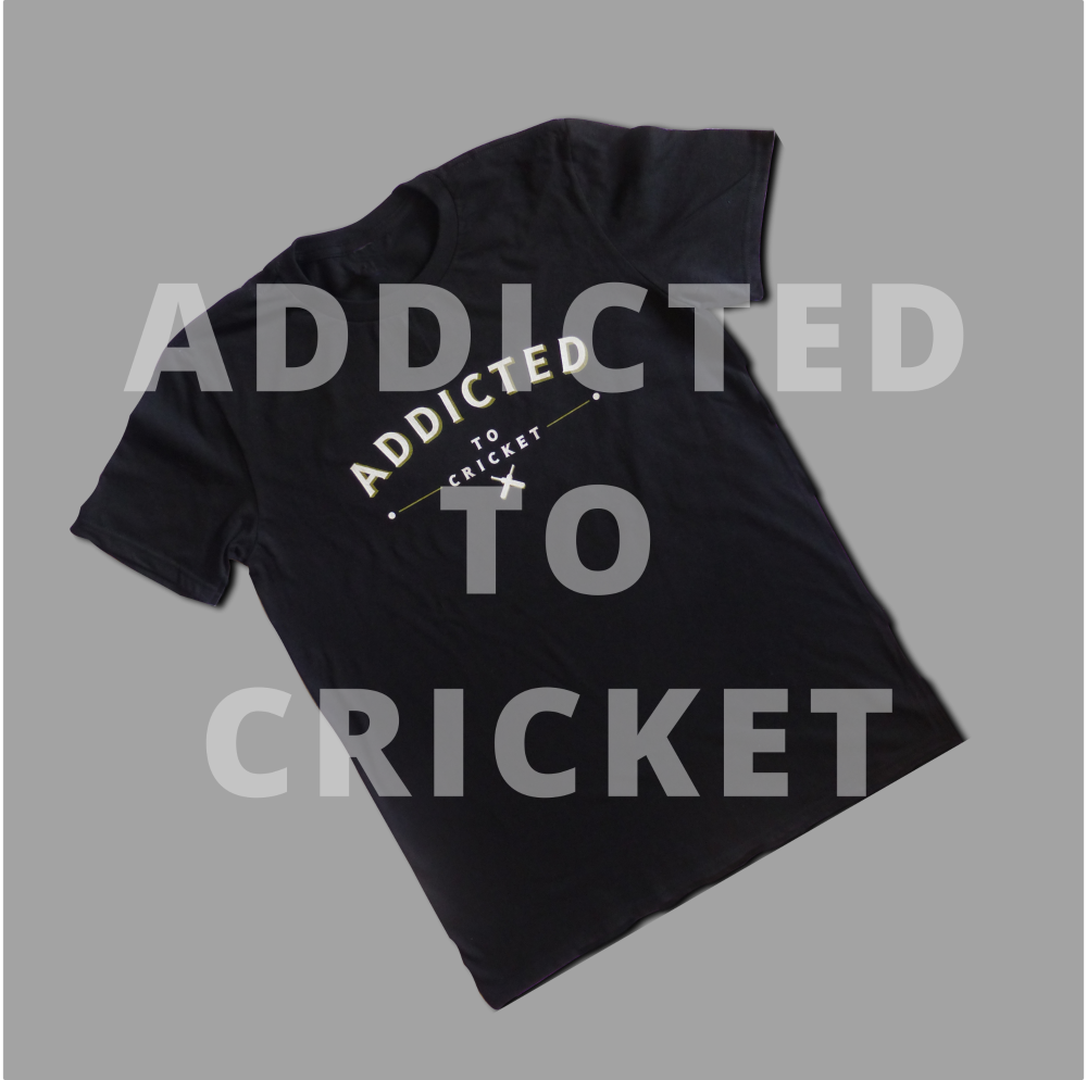 Addicted to Cricket - Our newest t-shirt