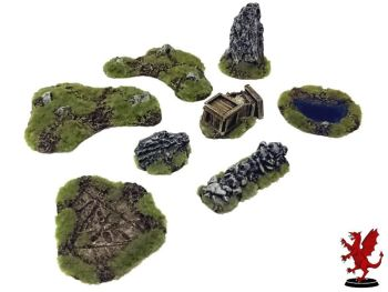 Medieval Football 8 piece terrain set