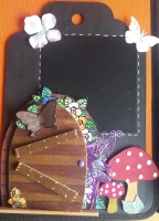 home decor - decorations - fairy door and blackboard option large rev