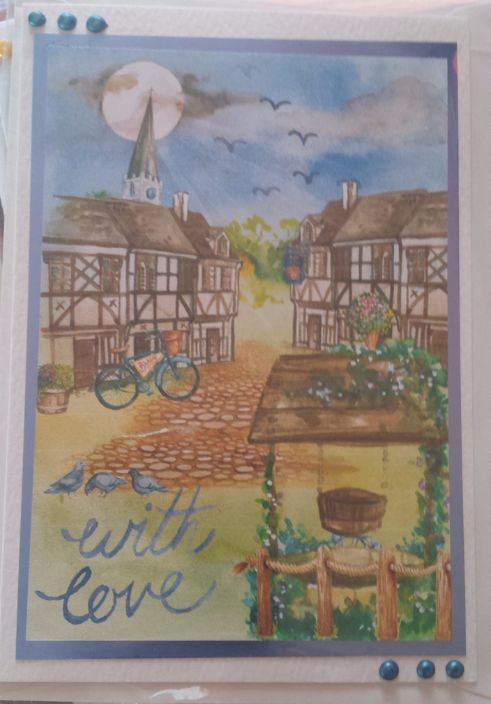 GC - Love and romance - Village Scene - With Love digital images rs