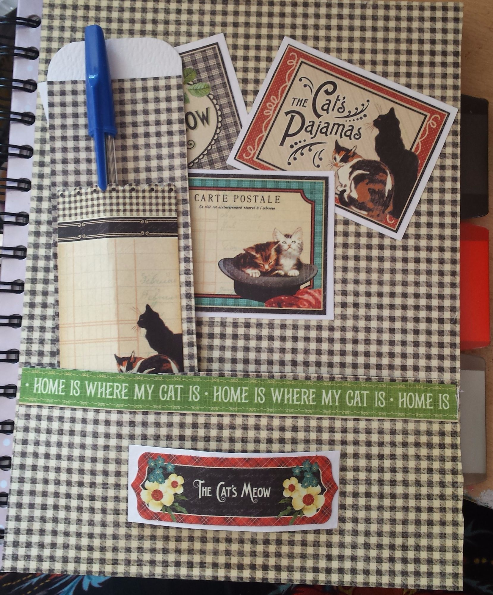 Raining Cats n Dogs - The Cat's Meow notebook, bookmark and pencil gift set