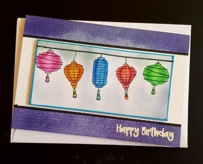 Happy birthday - Chinese lanterns C6 card